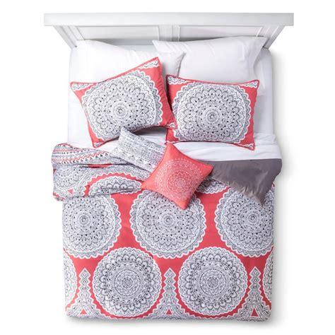 medallion gemma 5 piece comforter set coral q