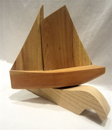 hand carved boat hand carved wooden ornamental sailing boat in elm and ash