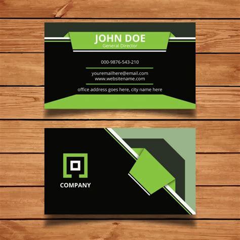 modern business card templates vector green modern business card vector free