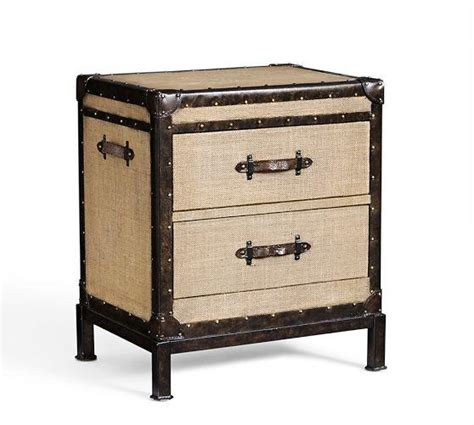 trunk style bedside tables redford trunk beige bedside table