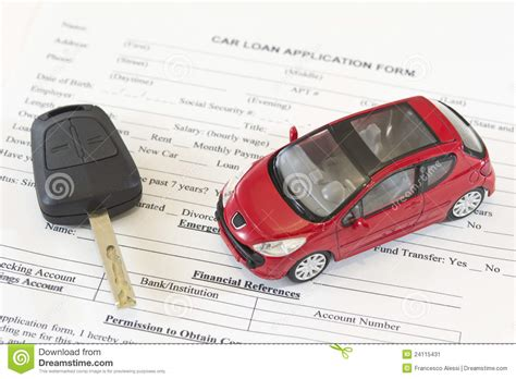 Car Application by Car Loan Application Form Stock Image Image 24115431