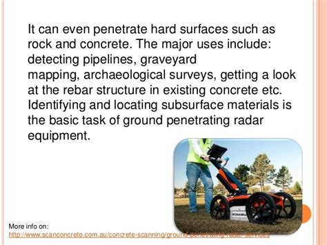 gpr basics a handbook for ground penetrating radar users books the uses of ground penetrating radar equipment