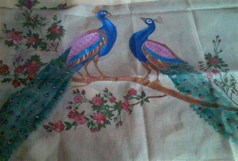 painting designs saree painting vallisworld s weblog