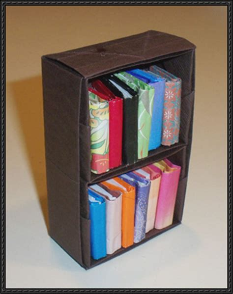 origami bookcase papercraftsquare new paper model bookcase origami