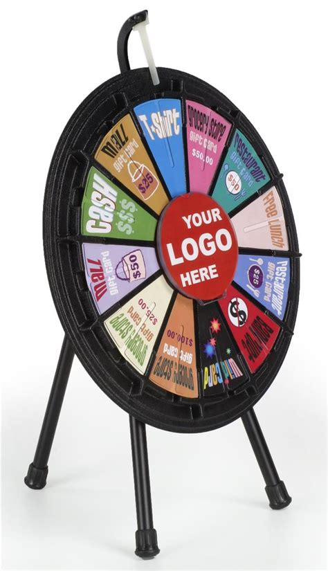 12 Slot Prize Wheel Template Mini Prize Wheel With 12 Slots Printable Templates Countertop Black Prize Wheel Template