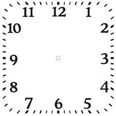 free printable square clock faces downloadable clock faces printables pinterest clock