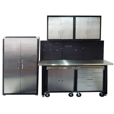 7 Standard Garage Storage System With Stainless Steel Workbench From Just Pro Tools Australia 7 Standard Garage Storage System With Stainless Steel Workbench From Just Pro Tools Australia
