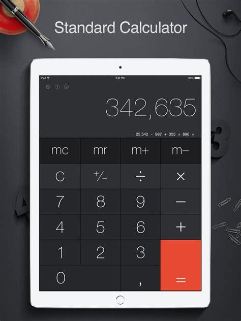 calculator x app calculator pro for ipad standard and scientific screenshot