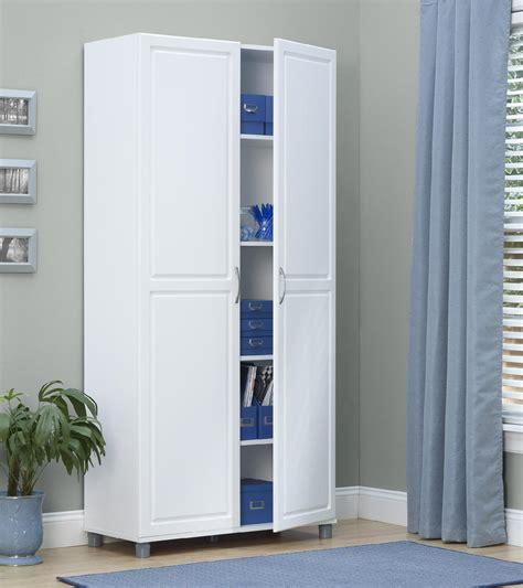 dorel kendall  white utility storage cabinet