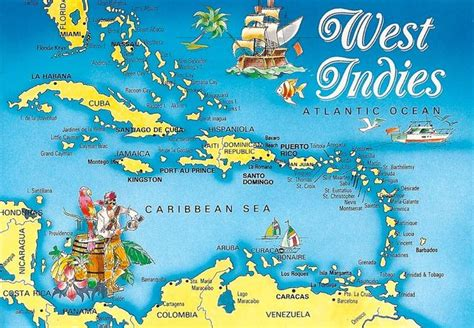 world map with country name west indies caribbean west indies map world map west