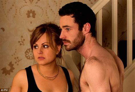 sean coronation street hair treatment coronation street s sarah louise platt shares kiss with