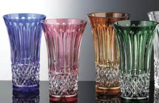 Small Colored Vases Vases Colored Lead Luxury Vases Gold Cut