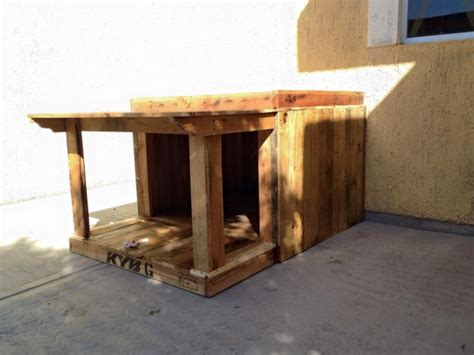 wooden dog house pallet wood house for your puppies pallet ideas
