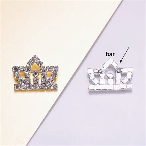 Crown Brooch crown brooch with bar backside silver plated with