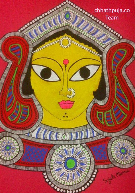 chat maa wallpaper maa durga madhubani painting by mishrasujata26 on deviantart