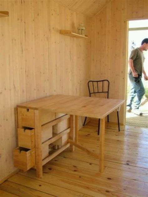 tiny home dining table fold table diy