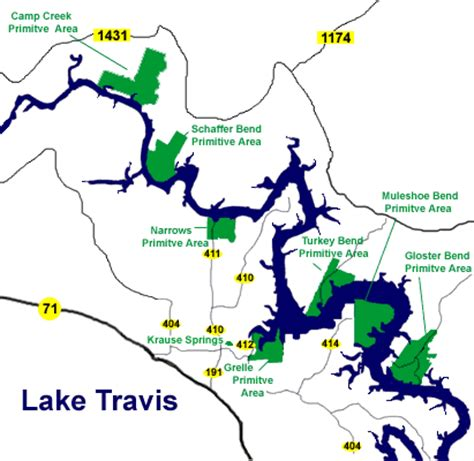 map lake texas lake travis map