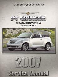 small engine repair training 2007 chrysler pt cruiser parking system 2007 chrysler pt cruiser pt service manual 4 volume set