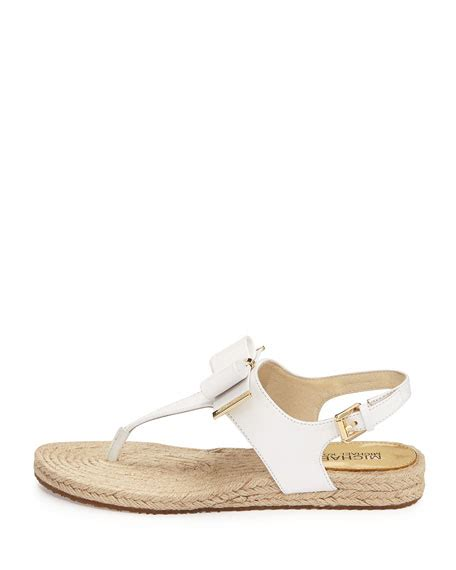 michael kors meg sandals michael michael kors meg bow detail flat sandal white