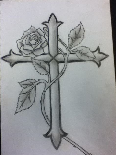 rose and cross tattoo meaning cross and by animevluver on deviantart