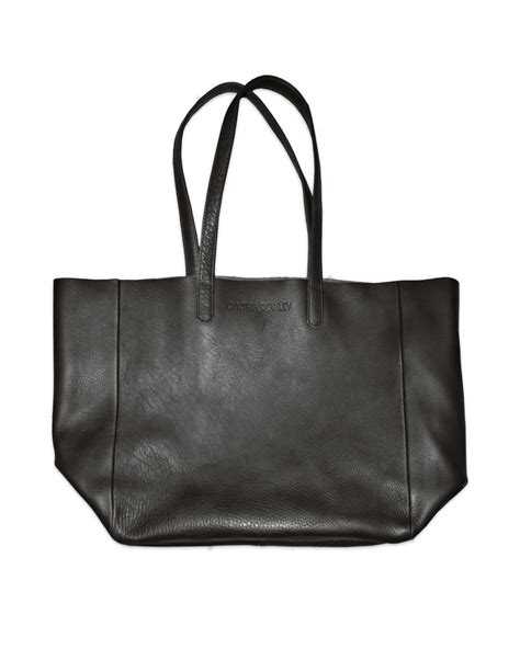 Cynthia Rowleys Leather Tote From Neiman by Cynthia Rowley Baggu Oversized Leather Tote In Black Lyst