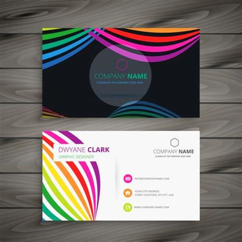 colorful business card templates free abstract color business card template vector design