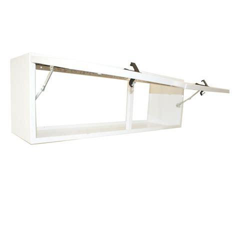 Overhead Cabinet Door Hinges Overhead Cabinet 60 0 Quot Length Flip Up Door White Powder Coat Hepfner Racing Products
