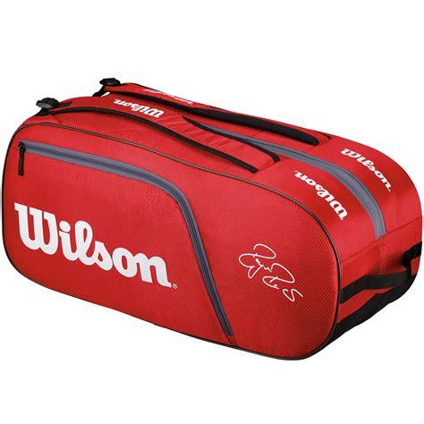 wilson federer team 12 pack tennis bag white