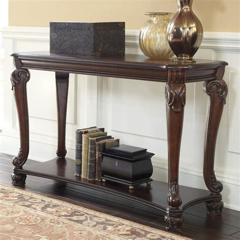 Furniture Sofa Table by Signature Design By Norcastle Rectangular Brown