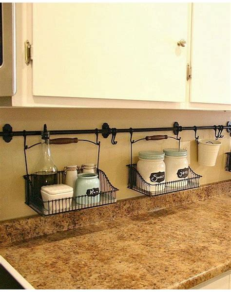 backsplash storage 25 genius diy kitchen storage and organization ideas