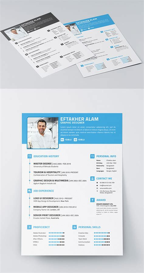 Resume Business Card Template by 50 Beautiful Free Resume Cv Templates In Ai Indesign