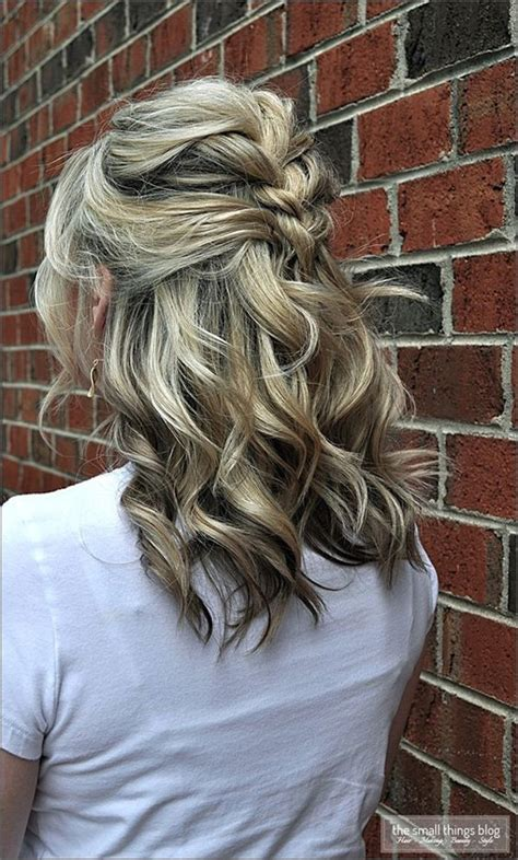 cute ways to curl your hair with a wand 2016 medium length half updos 2017 haircuts hairstyles