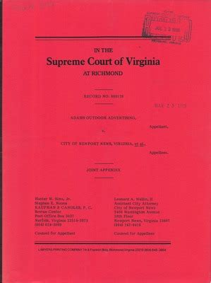 Court Records Virginia Virginia Supreme Court Records Volume 236 Virginia