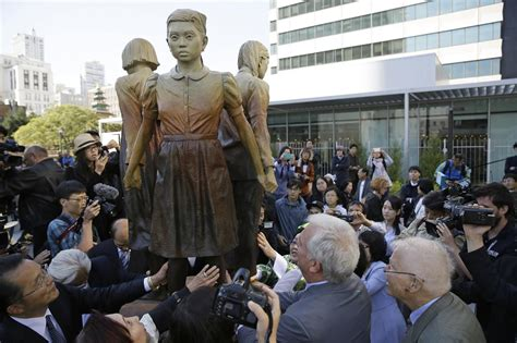 north korean comfort women san francisco unveils memorial to wwii quot comfort women