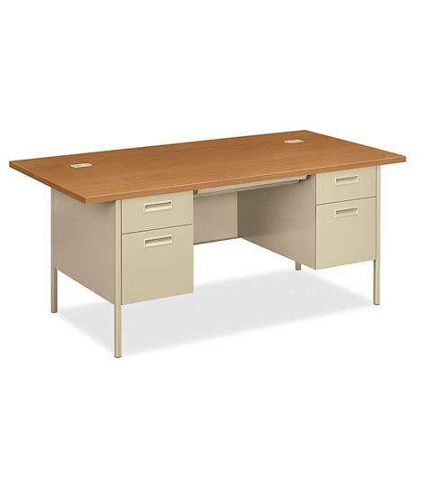 hon double pedestal desk metro classic double pedestal desk hp3276 hon office