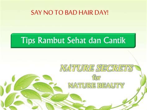 Gigi Sehat Dan Cantik tips rambut sehat dan cantik alami