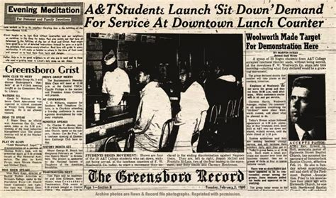 Greensboro Records The Greensboro Sit Ins Publish With Glogster