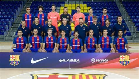 equipo futbol sala barcelona fc barcelona lassa general temporada 2016 2017