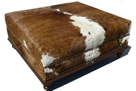 cowhide ottomans 17 best ideas about cowhide ottoman on cowhide