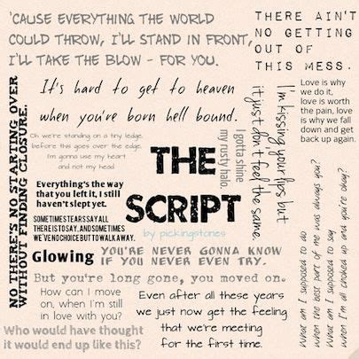 the script song the script lyric collage the script my inspiration