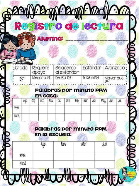 registro auxiliar 2do grado de primaria 2016 registros de lectura para primaria 7 imagenes educativas