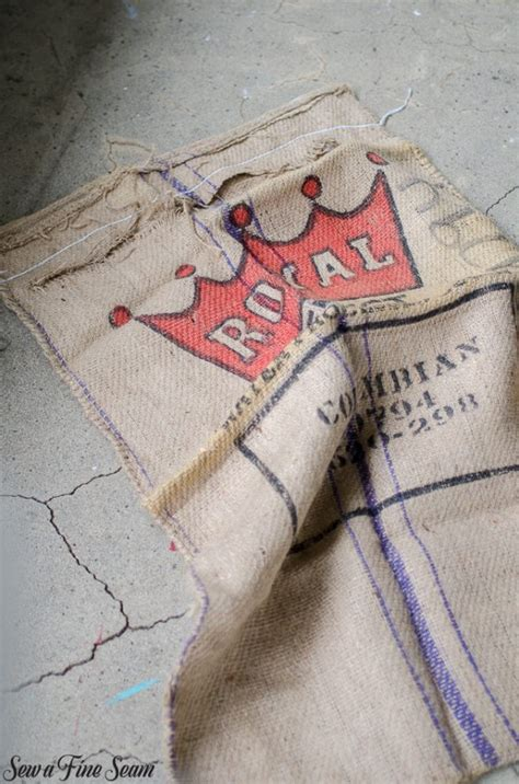 Rug Sacks by Using Burlap In Ways A Rug And A Cat Bed Sew A Seam