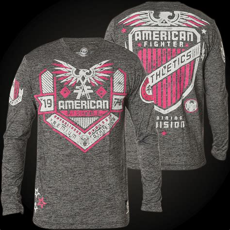 Hoodie Sweater Fighter Fei Grey Backfront Logo american fighter by affliction sweatshirt with a large logo