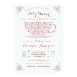 baby shower tea baby ii invitation zazzle