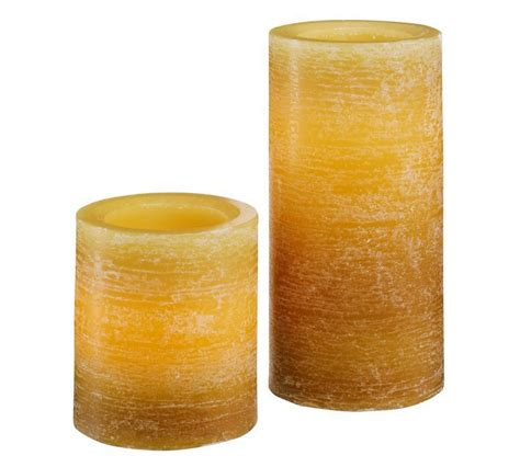 Look That Candles On by Pottery Barn Ombre Flameless Wax Pillar Candle The