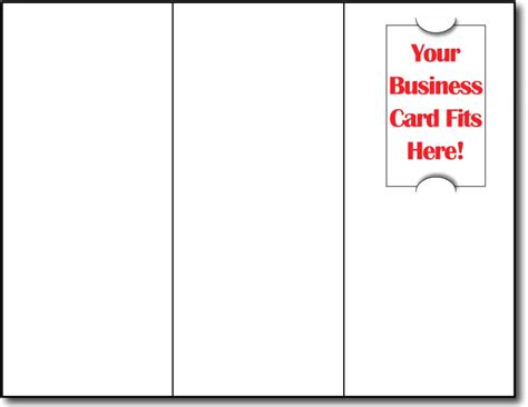 brochure with business card slot tri fold brochure paper