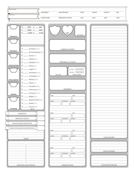 the 25 best dnd character sheet ideas on pinterest