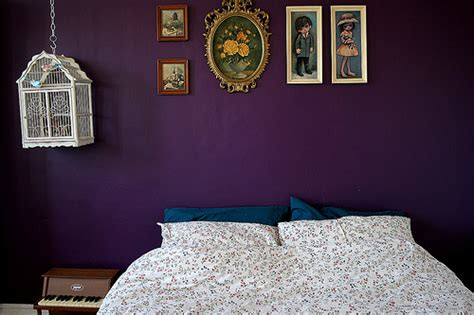 purple walls in bedroom purple wall bedroom decoration