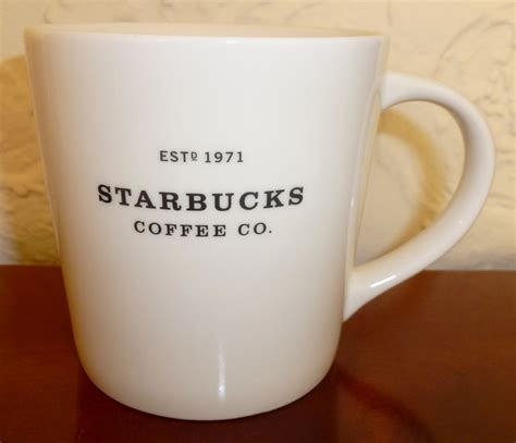 birdsvintageemporium starbucks white open handle set of starbucks white established company coffee mug on storenvy