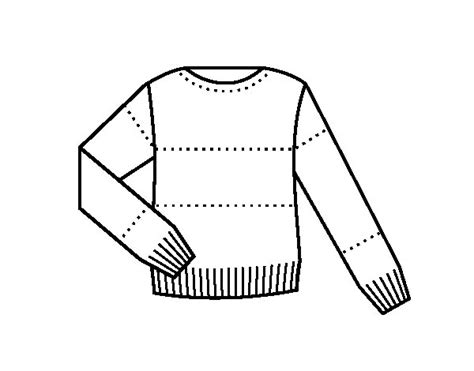 Sweater Coloring Page Coloringcrew Com Sweater Coloring Page
